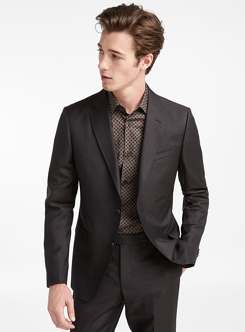 Le complet Micro Check Storm - Z Zegna - Brun