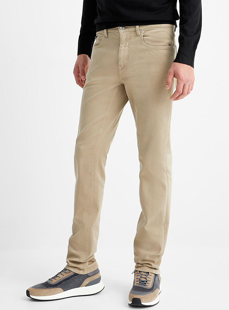 Z Zegna Cream Beige Sand-coloured jean for men