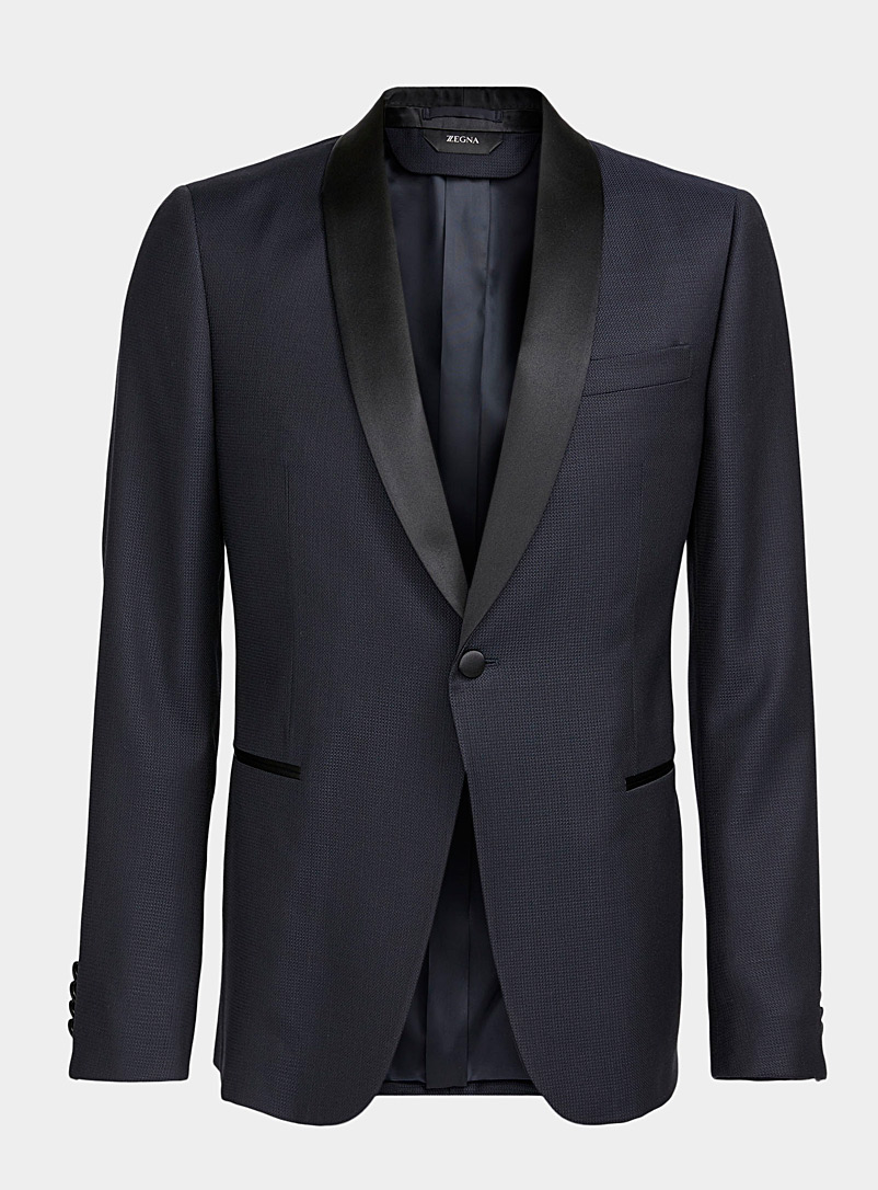 Z Zegna Marine Blue Tuxedo jacket for men