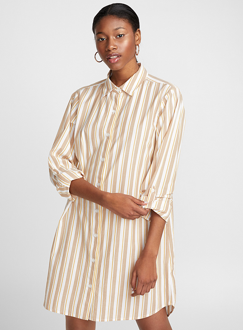 pinstripe-shirtdress