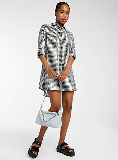 Printed organic cotton shirtdress