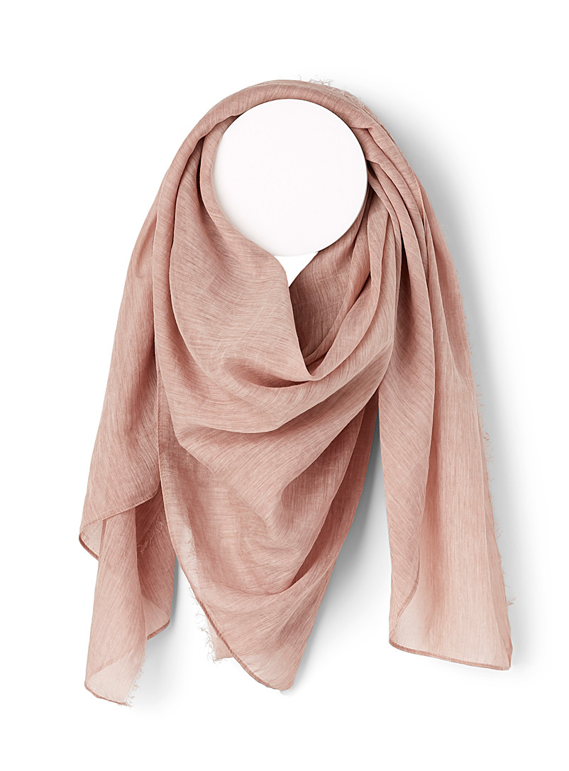 Moment by moment Pink Silky heather scarf for women