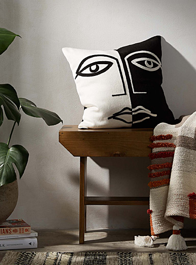 Split personality cushion <br>45 x 45 cm