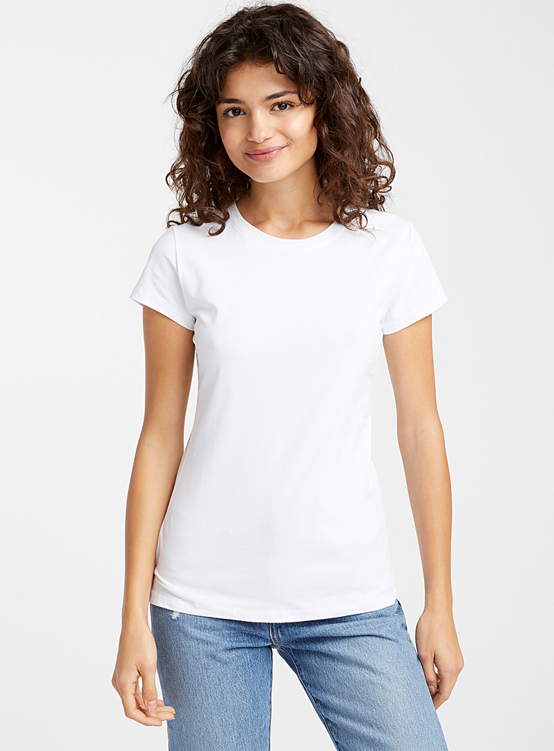 Organic cotton crew-neck tee - T-Shirts - White