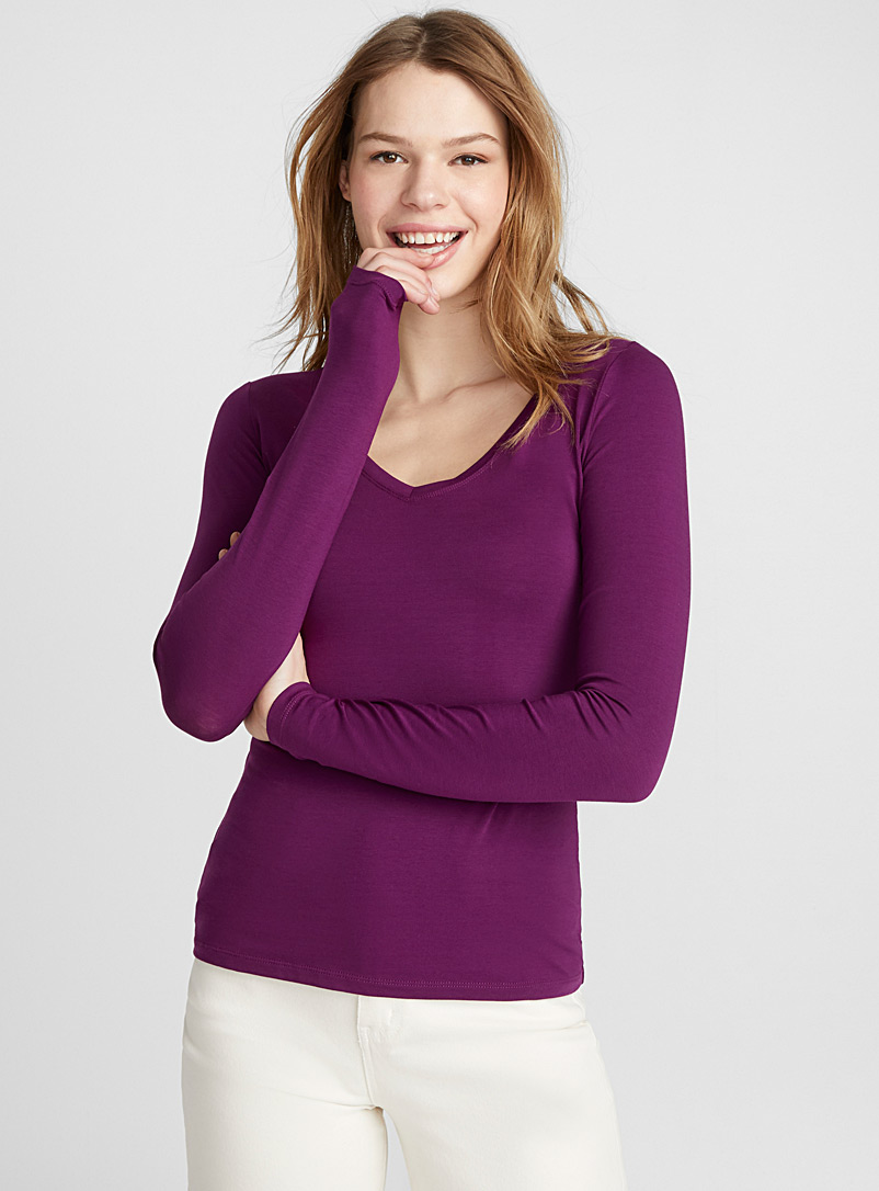 colourful-long-sleeve-v-neck-tee