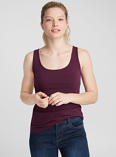 Organic cotton U-neck cami