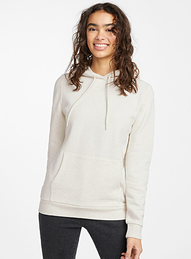 Twik Cream Beige Basic hoodie for women