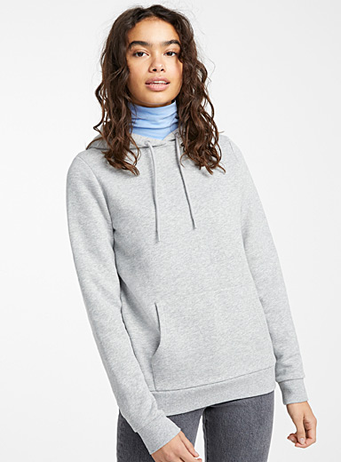 Twik Grey Basic hoodie for women