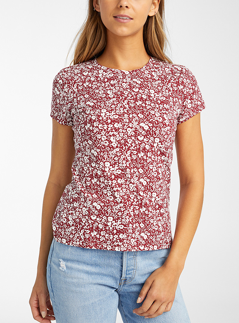 Organic cotton short-sleeve printed tee