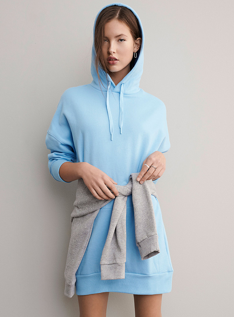 Oversized organic cotton hoodie dress