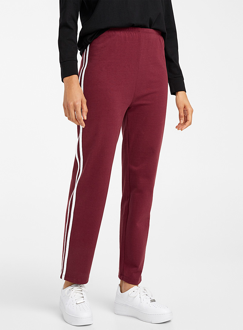 Twik Ruby Red Retro organic cotton sports pant for women