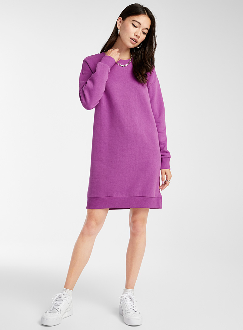 Organic cotton sweatshirt dress