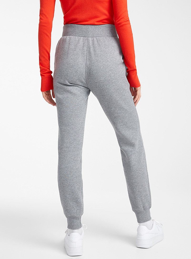 Twik Light Grey Basic boyfriend joggers for women