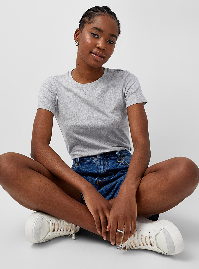 Organic cotton short-sleeve crew-neck tee