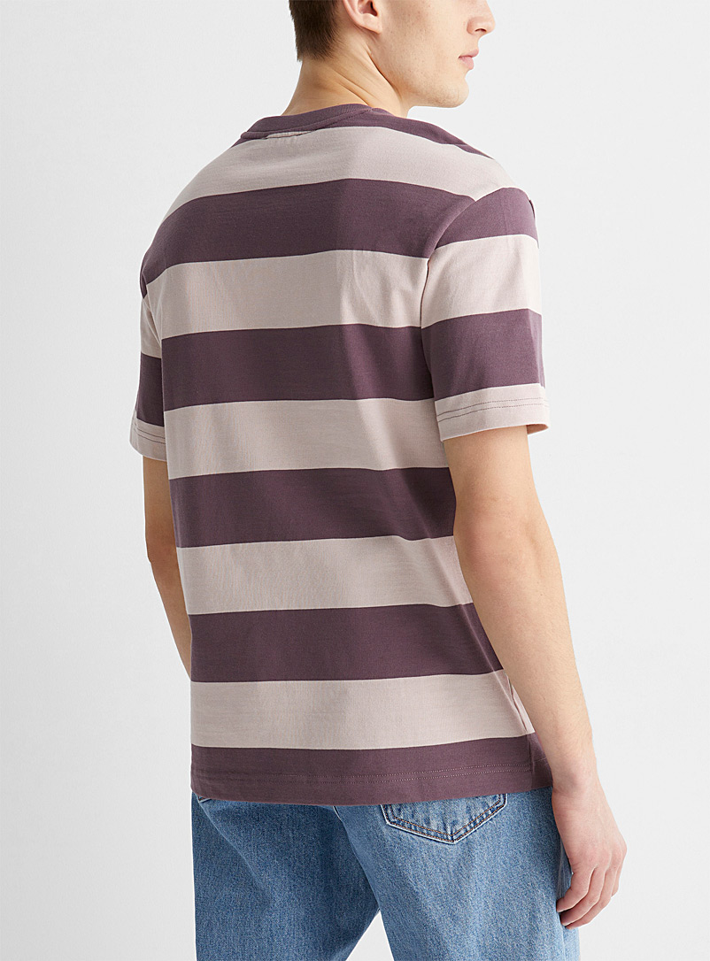 Le 31 Marine Blue Twin-stripe T-shirt for men