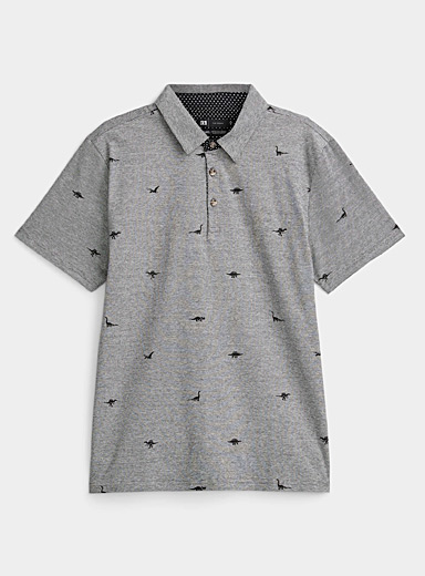 Patterned micro-stripe polo