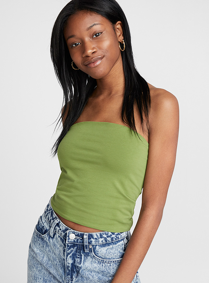 Organic cotton solid tube top - Organic Cotton - Mossy Green
