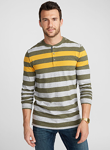Club stripe henley T-shirt