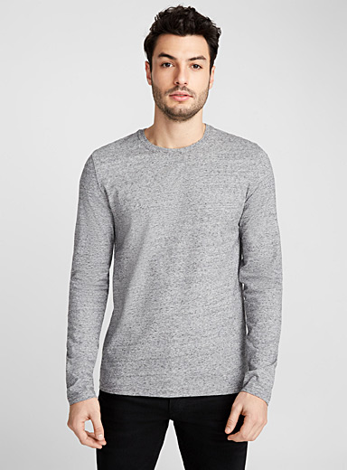 Stretch organic cotton long-sleeve T-shirt