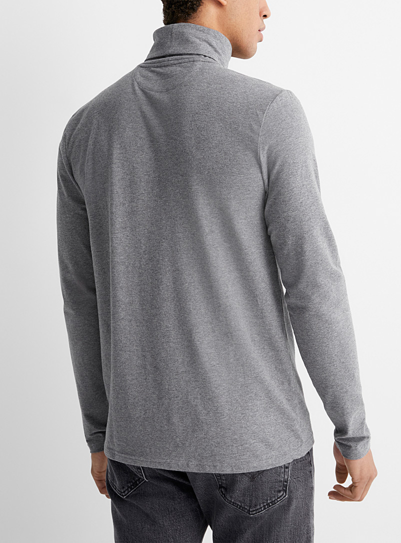 Le 31 Oxford Stretch organic cotton jersey turtleneck for men