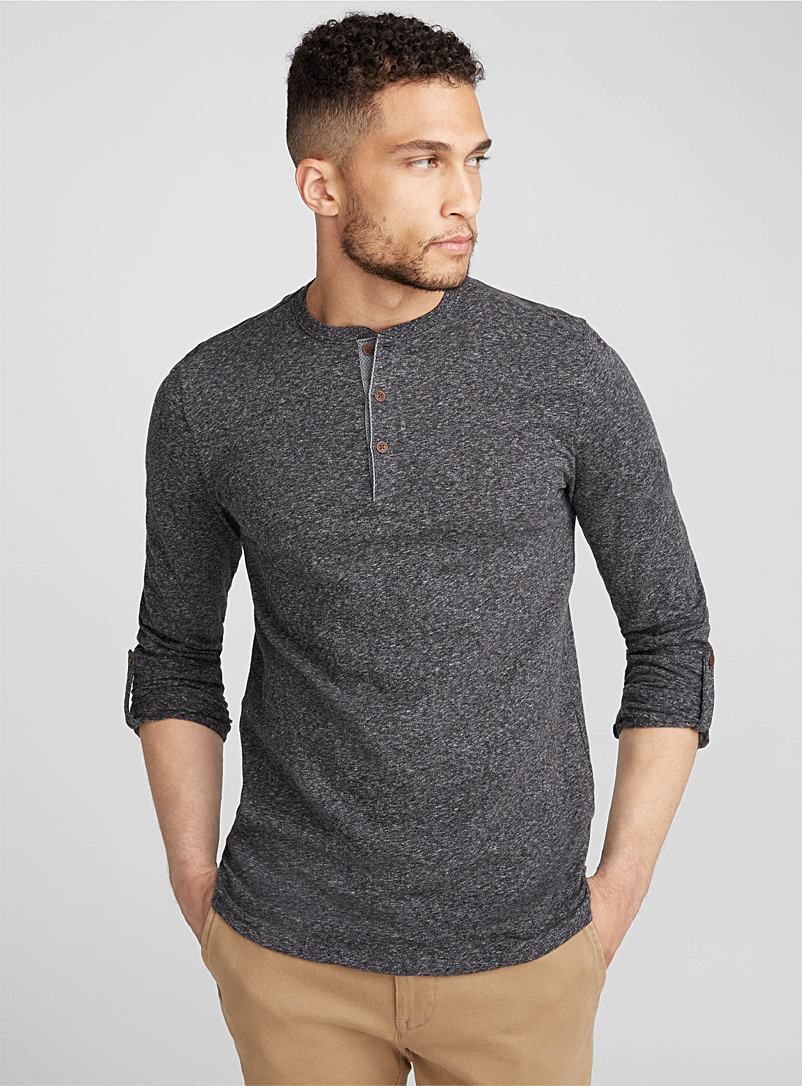 Trimmed henley T-shirt - Henleys - Oxford