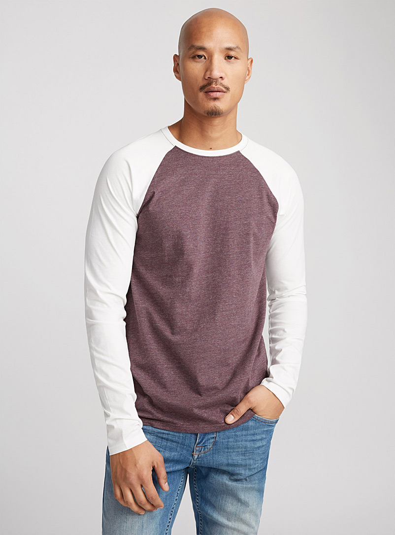 Baseball T-shirt - Long sleeves - Mauve