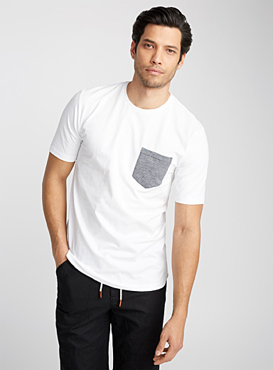 Accent pocket organic cotton T-shirt