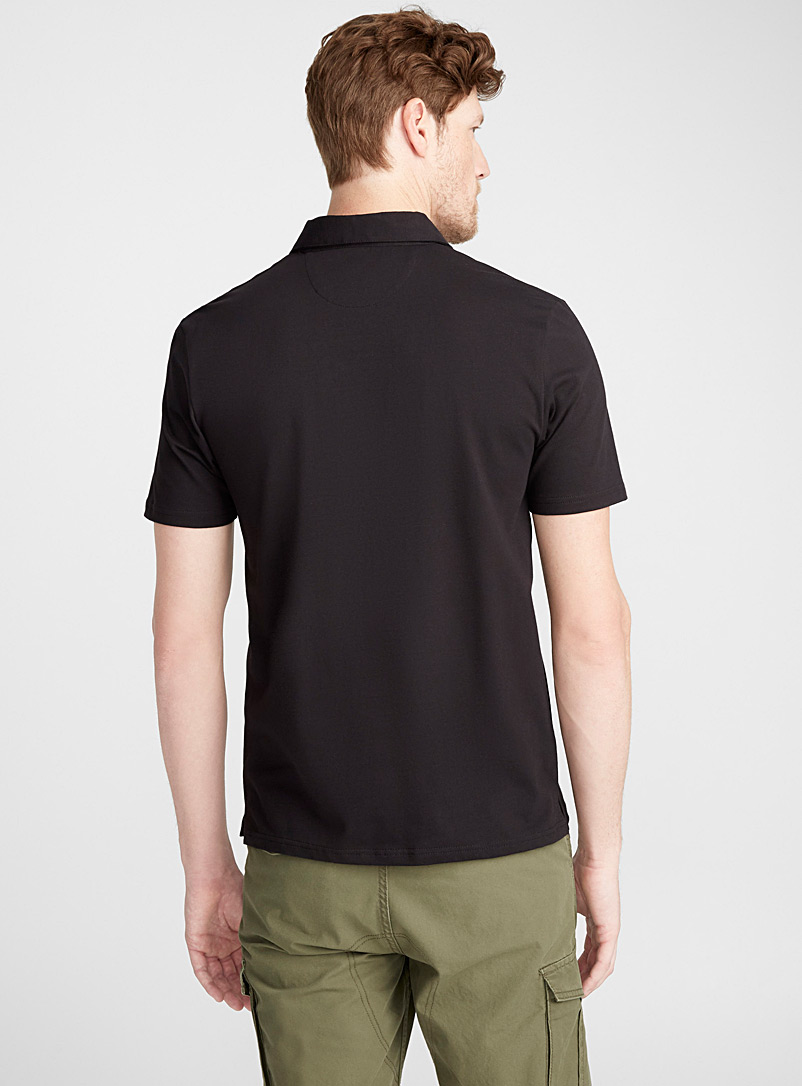 Le 31 Ivory White Solid organic cotton polo for men
