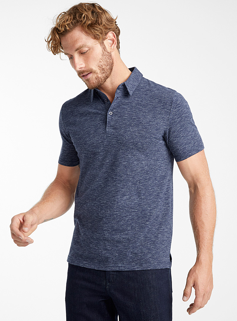 Solid organic cotton polo - Polos - Marine Blue