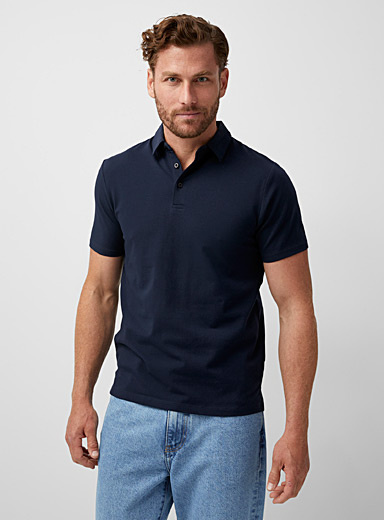 Solid organic cotton polo