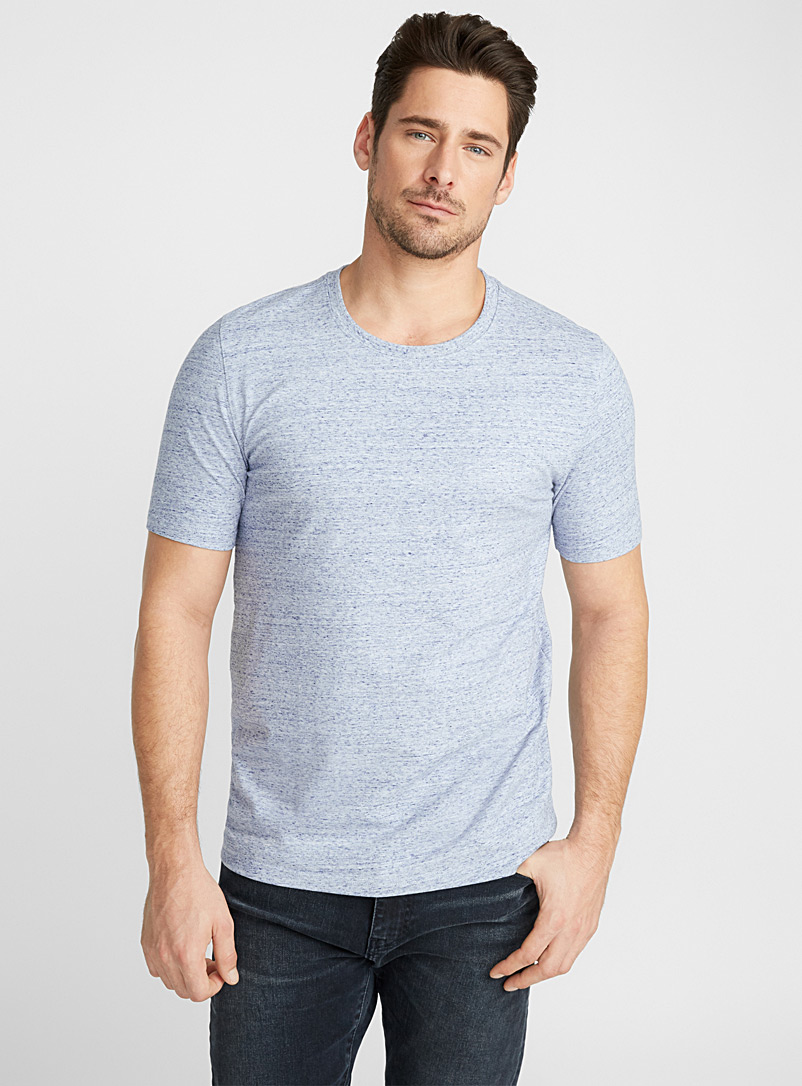 Le 31 Blue Stretch organic cotton T-shirt for men