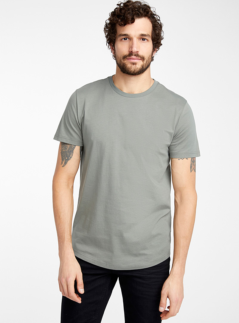 Le 31 Kelly Green Organic cotton muscle fit T-shirt for men