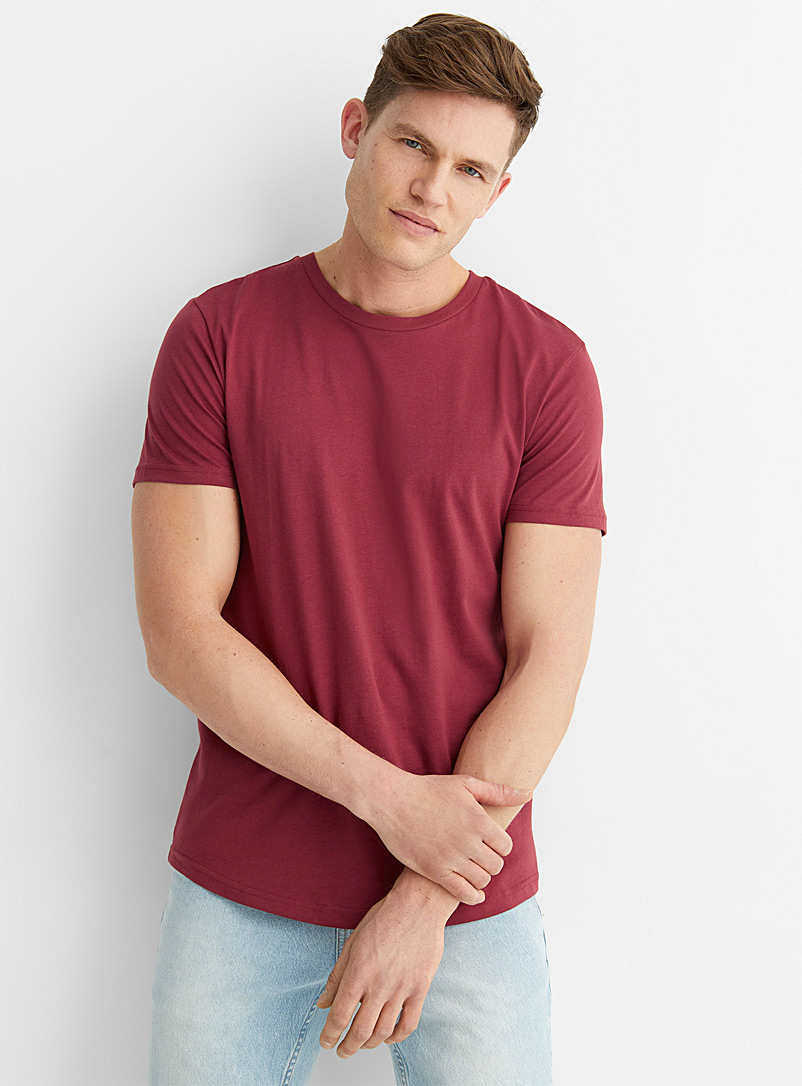 Le 31 Ruby Red Organic cotton muscle-fit T-shirt for men