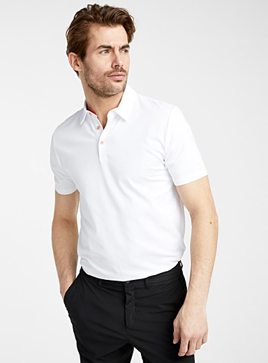Accent button organic cotton polo