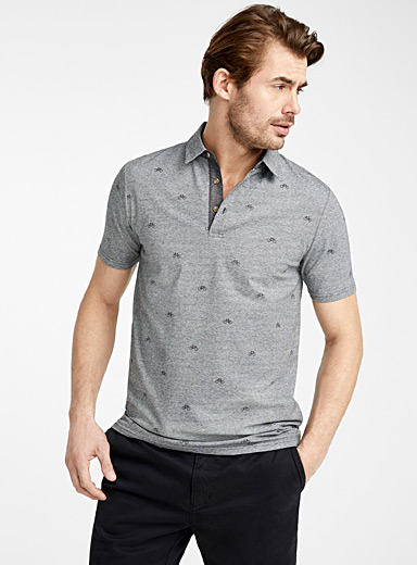 Mini vacation pattern polo
