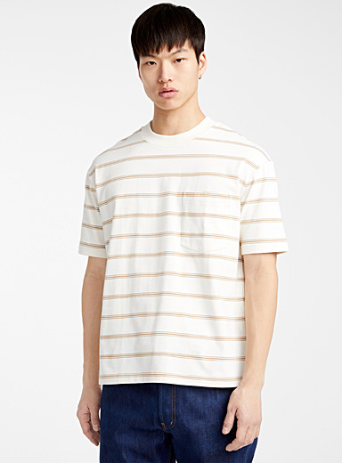 Loose accent stripe T-shirt