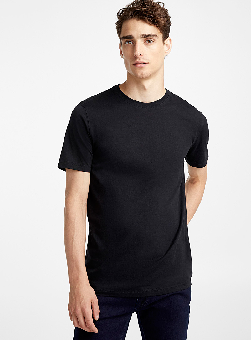 Le 31 Black Organic cotton T-shirt for men