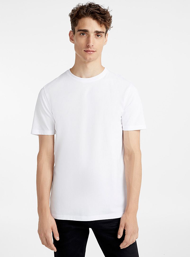 Le 31 White Organic cotton T-shirt for men