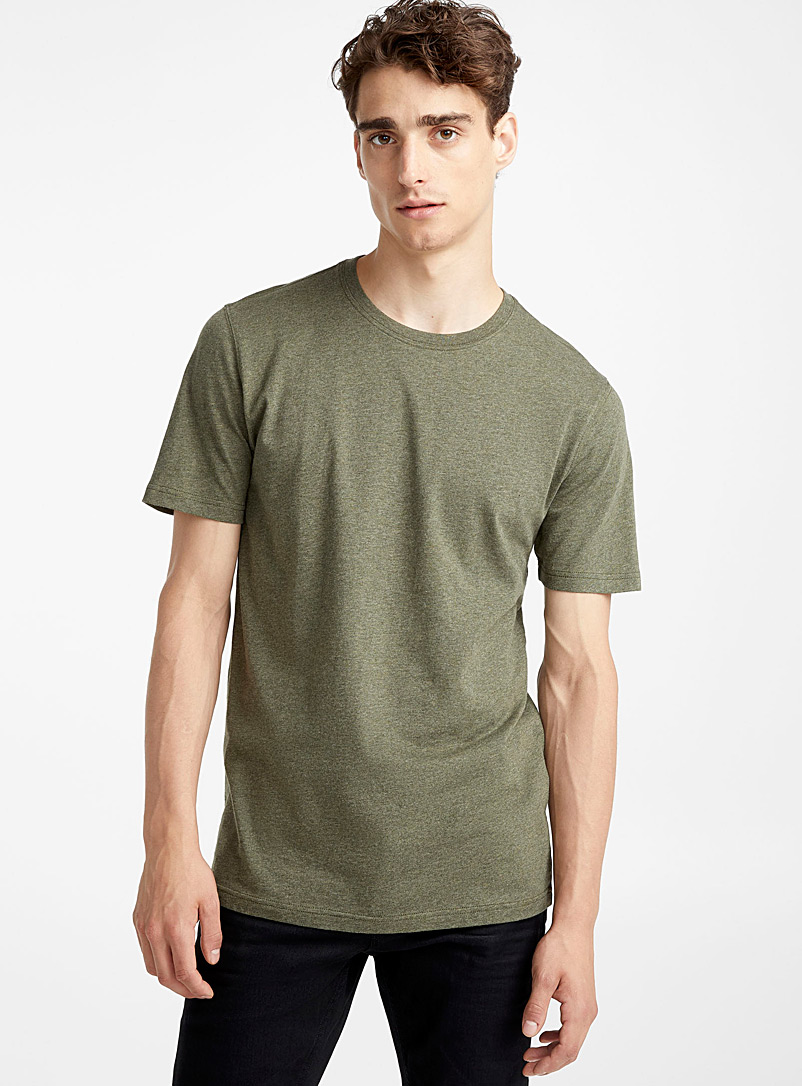 Organic cotton T-shirt - Short sleeves & 3/4 sleeves - Mossy Green