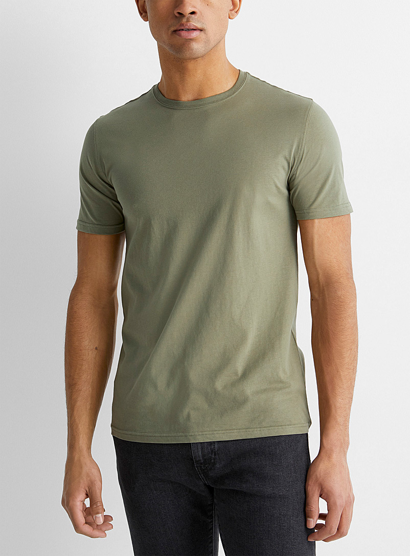 Le 31 Bottle Green Organic cotton T-shirt for men