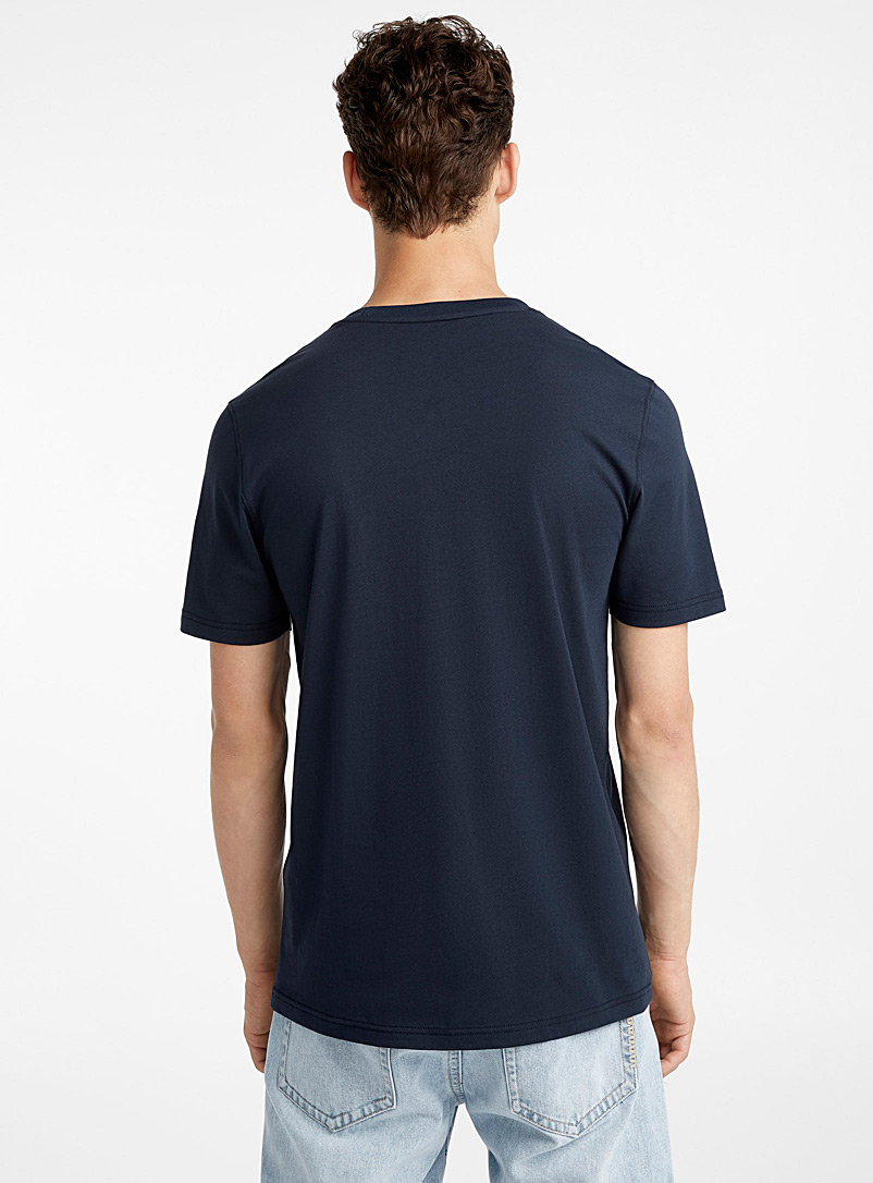 Le 31 Blue Organic cotton T-shirt for men