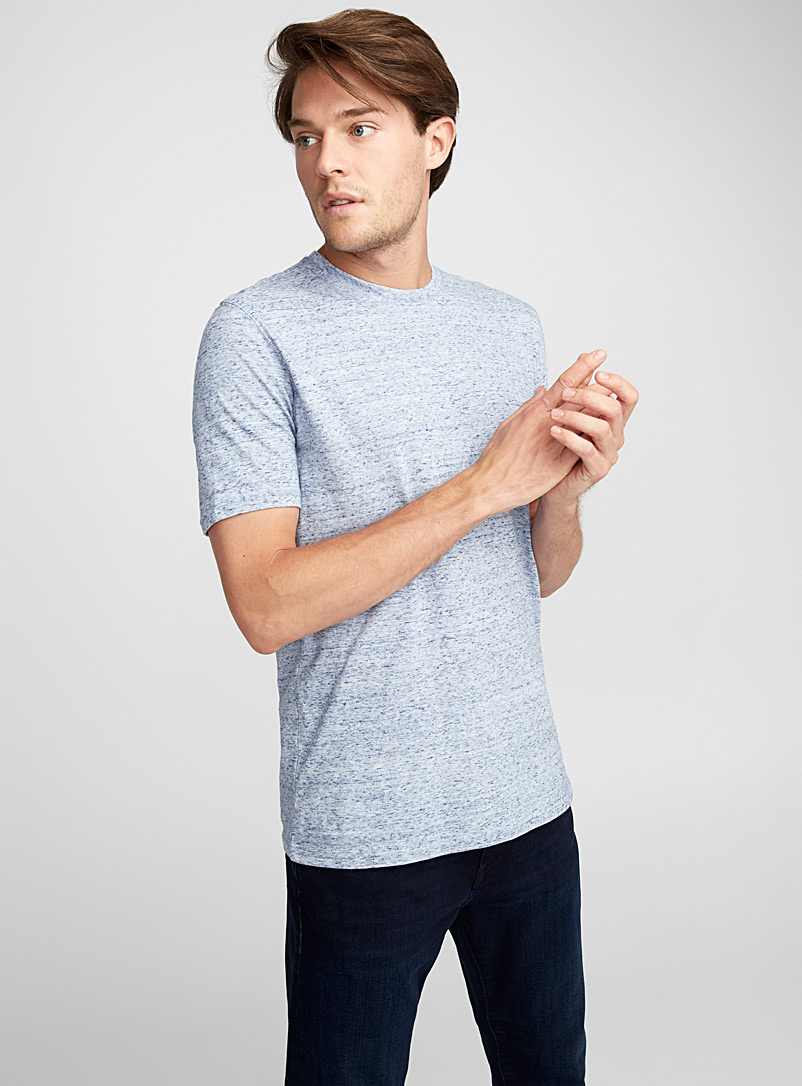 Coloured heather T-shirt - Short sleeves & 3/4 sleeves - Slate Blue