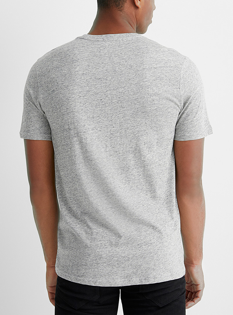 Le 31 Mossy Green Organic cotton T-shirt for men