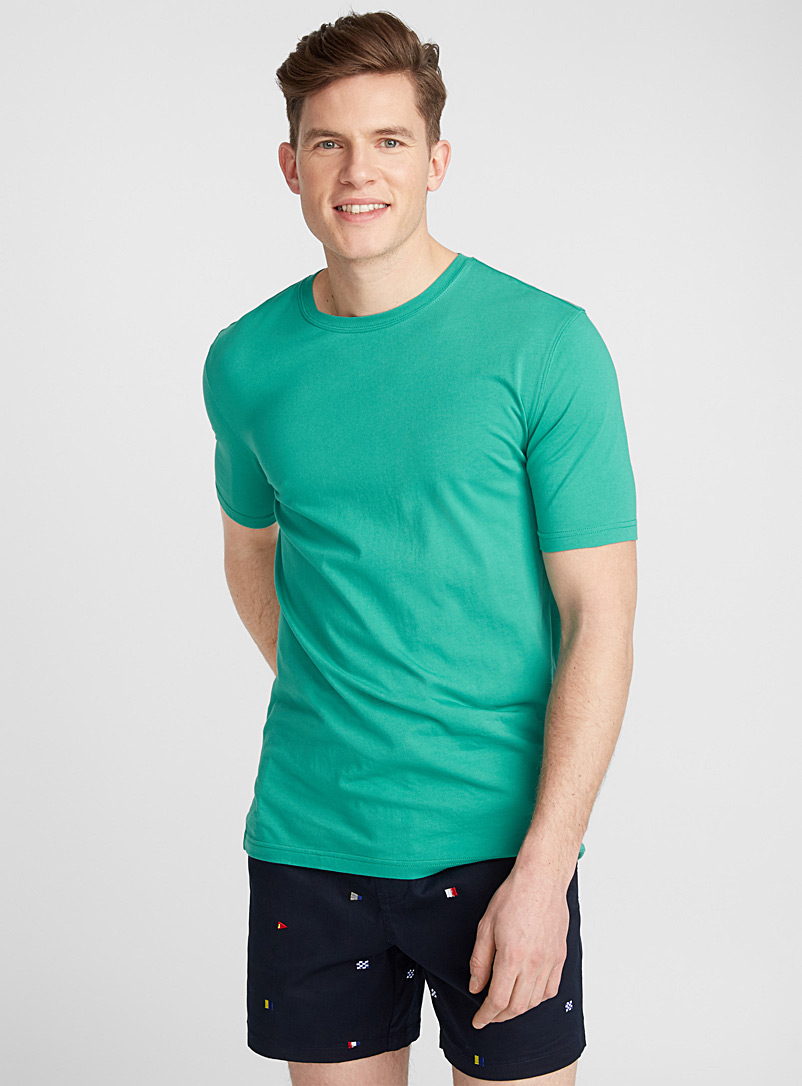 Bright coloured organic cotton T-shirt - Short sleeves & 3/4 sleeves - Kelly Green