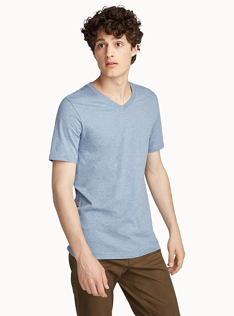 colourful-heather-v-neck-t-shirt