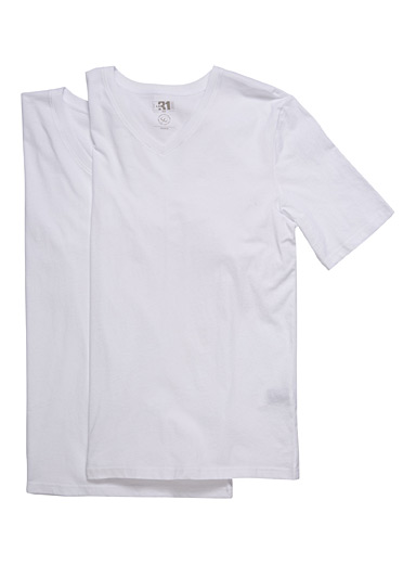 Organic cotton V-neck tee 2-pack