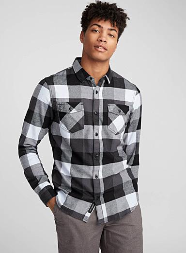 Grey check shirt