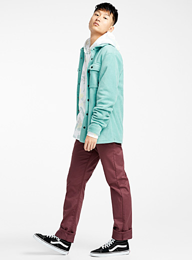 Mint plush overshirt