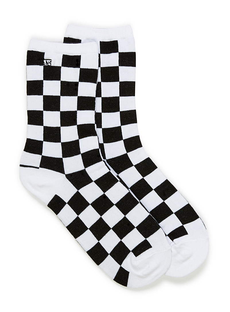 Vans Black Ticker check socks for women