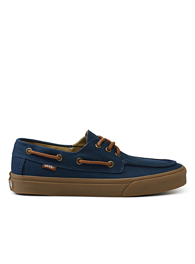 Navy chauffeur SF loafers